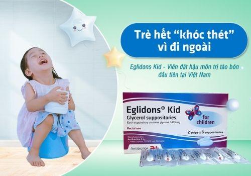 Thuốc trị táo bón cho trẻ eglidons kid